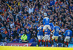 12.05.2019 Rangers v Celtic: Rangers celebrate the opening goal