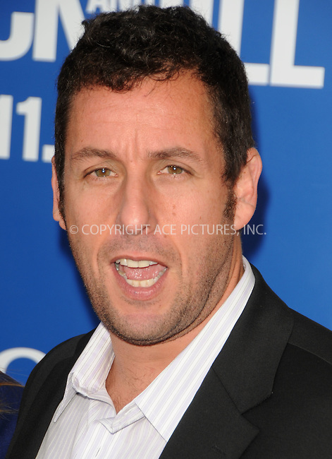 WWW.ACEPIXS.COM . . . . .  ....November 6 2011, LA....Actor Adam Sandler arriving at the premiere of Columbia Pictures' 'Jack And Jill' at the Regency Village Theatre on November 6, 2011 in Westwood, California.....Please byline: PETER WEST - ACE PICTURES.... *** ***..Ace Pictures, Inc:  ..Philip Vaughan (212) 243-8787 or (646) 679 0430..e-mail: info@acepixs.com..web: http://www.acepixs.com