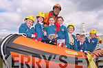 EDUCATIONAL FUN: Having fun but also learning about the importance of the work of Civil Defence volunteers were: Amy Roche, Shauna McGrath, Chloe Morris, Tenisha Purcell, Makayla Chester, Paul McGee Lynch, Kasey O'Connor, Katie Dennehy from Balloonagh primary school on Tuesday with Gary Kavanagh from Civil Defence.