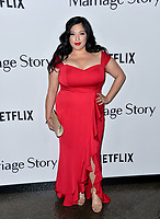 """LOS ANGELES, USA. November 06, 2019: Connie Marie Flores  at the premiere for """"Marriage Story"""" at the DGA Theatre.<br /> Picture: Paul Smith/Featureflash"""