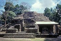 The Mask Temple at the Mayan ruins of Lamanai, Belize