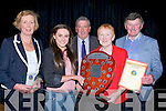 OVERALL: Niamh Carlin who was the overall winner of the Student of the year award at the Causeway Comprehensive School on Thursday evening. l-r: Lucille O'Sullivan (principal),Niamh Carlin (student of the year),John O'Regan (former principal),Eileen Donegan (presenter) and Jim Leahy (teacher).