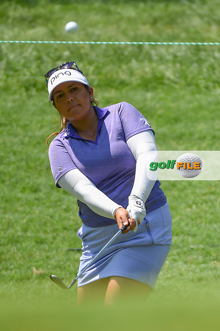 Lizette Salas (USA) chips on to 2 during round 4 of the U.S. Women's Open Championship, Shoal Creek Country Club, at Birmingham, Alabama, USA. 6/3/2018.<br /> Picture: Golffile | Ken Murray<br /> <br /> All photo usage must carry mandatory copyright credit (© Golffile | Ken Murray)
