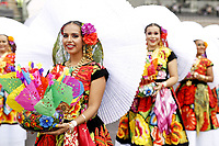 27th October 2019, Autodromo HermanRodriguez, Mexico City, Mexico; F1 Grand Prix of Mexico, Race Day; Mexican dancers  during the drivers parade