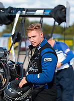 Oct 20, 2019; Ennis, TX, USA; NHRA top fuel driver Jordan Vandergriff during the Fall Nationals at the Texas Motorplex. Mandatory Credit: Mark J. Rebilas-USA TODAY Sports