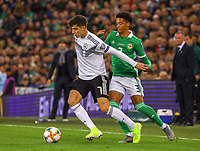Kai Havertz (Deutschland, Germany) gegen Jamal Lewis (Nordirland, Northern Ireland) - 09.09.2019: Nordirland vs. Deutschland, Windsor Park Belfast, EM-Qualifikation DISCLAIMER: DFB regulations prohibit any use of photographs as image sequences and/or quasi-video.