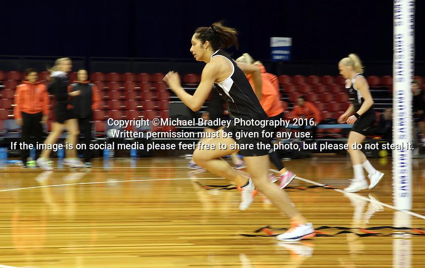 09.10.2016 Silver Ferns Phoenix Karaka in action during training at the Silver Dome in Launceston in Australia. Mandatory Photo Credit ©Michael Bradley.