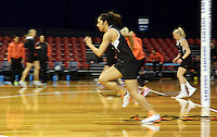 09.10.2016 Silver Ferns Phoenix Karaka in action during training at the Silver Dome in Launceston in Australia. Mandatory Photo Credit ©Michael Bradley.