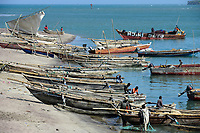 TANZANIA Tanga, Pangani, wooden boats at indian ocean