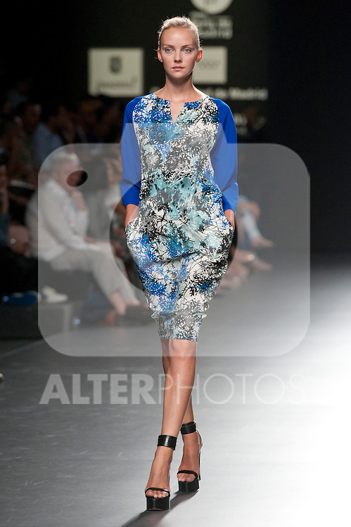 Cibeles catwalk with fashion show of Angel Schlesser  on Agost 31th 2012...Photo:  (ALTERPHOTOS/Ricky)