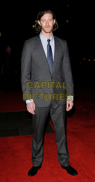 SAMUEL ROUKIN.attends the premiere for 'Bright Star' during the Times BFI 53rd London Film Festival at the Odeon Leicester Square, London, England,.October 19th 2009..full length suit beard facial hair blue tie grey gray .CAP/CAN.©Can Nguyen/Capital Pictures.