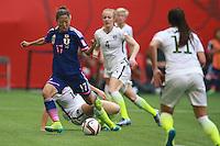 VANCOUVER, CANADÁ, 05.07.2015 - EUA-JAPÃO - Yuki Ogimi do Japão durante partida contra os Estados Unidos jogo válido pela final da Copa do Mundo de Futebol Feminino no Estádio BC Place em Vancouver  no Canadá neste domingo, 05. (Foto: William Volcov/Brazil Photo Press)