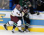Ben Smith (Boston College - Avon, CT), Zach Jones (University of North Dakota - Lisle, IL) - The Boston College Eagles defeated the University of North Dakota Fighting Sioux 6-4 in their 2007 Frozen Four semi-final on Thursday, April 5, 2007, at the Scottrade Center in St. Louis, Missouri.