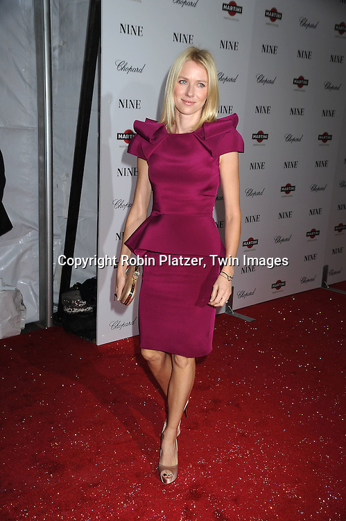 Naomi Watts in Marchesa dress