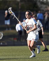 Boston College midfielder Kate McCarthy (20) on the attack.