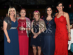 Lisa Dunne, Linda O'Leary, Jenny Magee, Ausumpta McGuinness and Caroline Hagan at the ABACAS Ball in the Westcourt Hotel. Photo:Colin Bell/pressphotos.ie