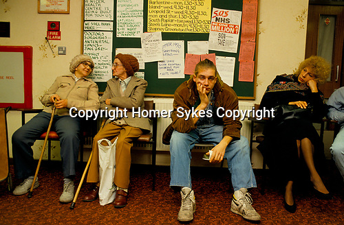 Doctors waiting room east end London 1989.