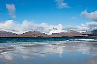 Luskentyre beach with mountains in background, Isle of Harris, Outer Hebrides, Scotland