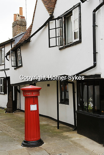 A traditional red letter box at the corner of Eton High street, Eton near nr Windsor Berkshire. England 2006