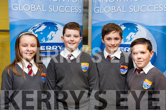 Fenit National school students, Aoife O'Brien, Conor O'Sullivan, Donagh Murphy and Mark O'Connor attending the ISTA Primary Schools Annual Science Quiz in the IT Tralee's South campus on Thursday night last.