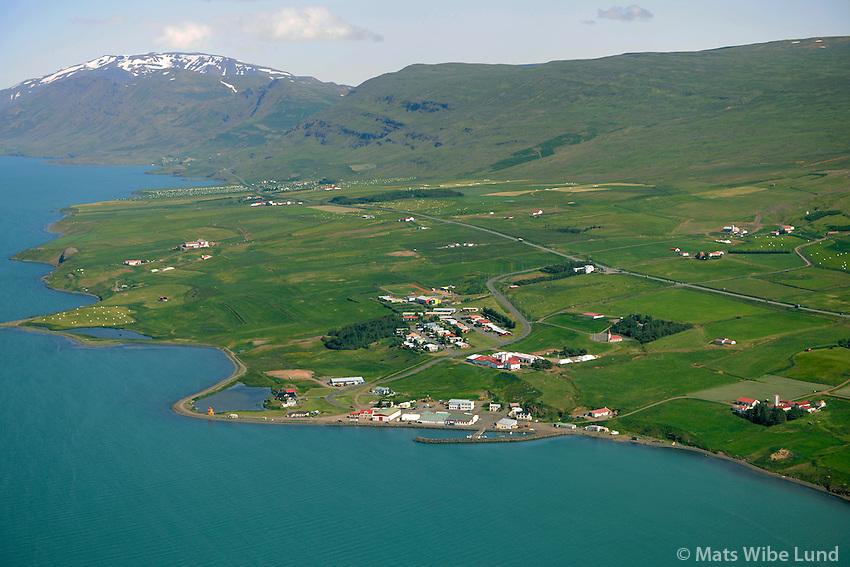 Svalbarðseyri séð til norðurs, Svalbarðsstrandarhreppur / Svalbardseyri viewing north, Svalbardsstrandarhreppur.
