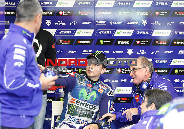 Monster Energy Grand Prix de France in Le Mans 15.-17.05.2015, Free Practice, Qualifying, Box.<br /> <br /> 99 Jorge Lorenzo / Spanien<br /> <br /> Foto &copy; nordphoto / FSA