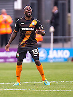 Jamal Campbell-Ryce of Barnet celebrates Curtis Weston of Barnet's equalising goal during the EFL Sky Bet League 2 match between Barnet and Colchester United at The Hive, London, England on the 17th September 2016. Photo by Liam McAvoy.