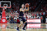 RALEIGH, NC - FEBRUARY 03: Notre Dame's Rex Pflueger. The North Carolina State Wolfpack hosted the University of Notre Dame Fighting Irish on February 3, 2018 at PNC Arena in Raleigh, NC in a Division I men's college basketball game. NC State won the game 76-58.