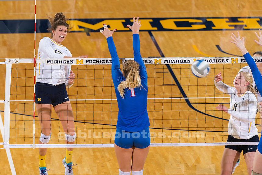 The University of Michigan volleyball team,3-0,NCAA first round victory over American at Cristler Arena in Ann Arbor, MI on December 01, 2016.