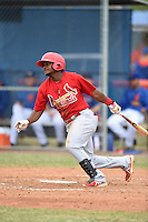 St. Louis Cardinals shortstop Juan Herrera (12) during a minor league spring training game against the New York Mets on March 27, 2014 at the Port St. Lucie Training Complex in St. Lucie, Florida.  (Mike Janes/Four Seam Images)