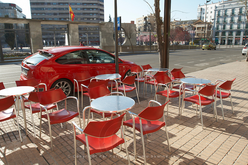 restaurant terrace , Zamora spain castile and leon