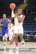 Washington, DC - December 22, 2018: Howard Bison guard Raymond Bethea Jr. (4) passes the ball during the DC Hoops Fest between Hampton and Howard at  Entertainment and Sports Arena in Washington, DC.   (Photo by Elliott Brown/Media Images International)