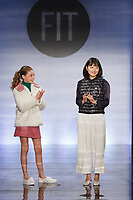 Graduating student Jongah lee , won the Erin Rechner Critic Award, during the Future of Fashion 2017 runway show at the Fashion Institute of Technology on May 8, 2017.