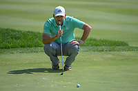 Sergio Garcia (ESP) lines up his putt on 15 during 2nd round of the World Golf Championships - Bridgestone Invitational, at the Firestone Country Club, Akron, Ohio. 8/3/2018.<br /> Picture: Golffile | Ken Murray<br /> <br /> <br /> All photo usage must carry mandatory copyright credit (© Golffile | Ken Murray)