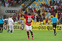 RIO DE JANEIRO, RJ, 24.11.2013 -  Samir do Flamengo comemora a vitória contra o Corinthians, neste domingo, pela trigésima sexta rodada do Campeonato Brasileiro no Maracanã. (Foto. Néstor J. Beremblum / Brazil Photo Press).