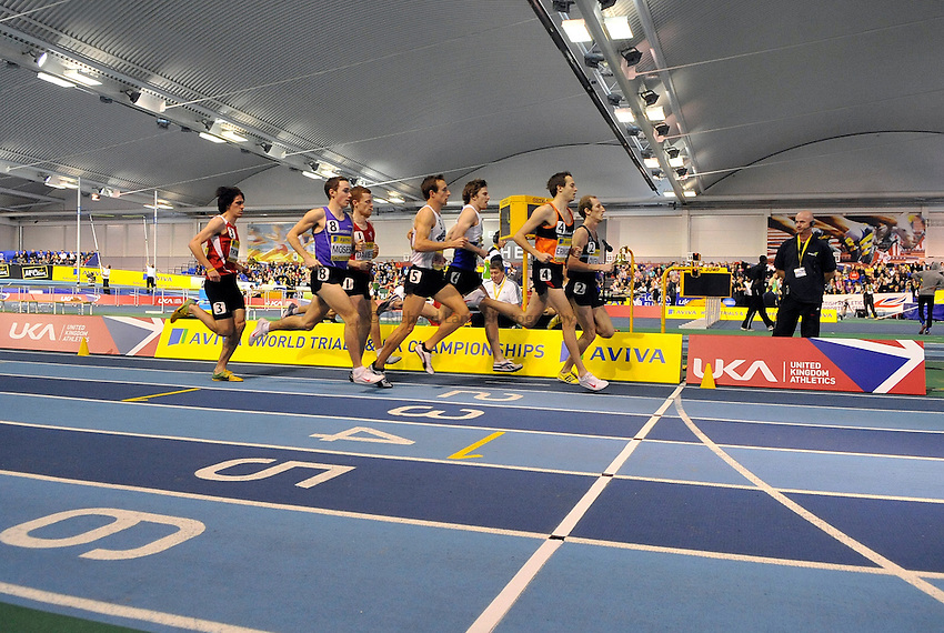 Photo: Paul Greenwood/Richard Lane Photography. Aviva World Trials & UK Championships. 14/02/2010. .General View of the Mens 1500m.