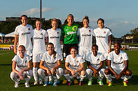 Washington Spirit starting eleven. Sky Blue FC defeated the Washington Spirit 1-0 during a National Women's Soccer League (NWSL) match at Yurcak Field in Piscataway, NJ, on August 3, 2013.