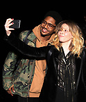 "Ephraim Sykes and Natasha Lyonne backstage after a performance of ""Ain't Too Proud"" at the Imperial Theatre on April 11, 2019 in New York City."