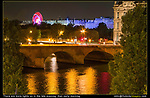 France, Paris.  Room view. <br /> Photos from your hotel room are a great way to personalize your travel photos and post on social media. There are always more city lights on after sunset, than before sunrise.  The Seine River and Tulieres Gardens.