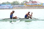 Masahiro Takeda &  Masayuki Miyaura (JPN), <br /> AUGUST 24, 2018 - Rowing : <br /> Men's Lightweight Double Sculls  Final <br /> at Jakabaring Sport Center Lake <br /> during the 2018 Jakarta Palembang Asian Games <br /> in Palembang, Indonesia. <br /> (Photo by Yohei Osada/AFLO SPORT)