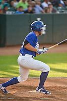 Matthew Beaty (35) of the Ogden Raptors at bat against the Idaho Falls Chukars in Pioneer League action at Lindquist Field on June 22, 2015 in Ogden, Utah.The Chukars defeated the Raptors 4-3 in 11 innings.  (Stephen Smith/Four Seam Images)