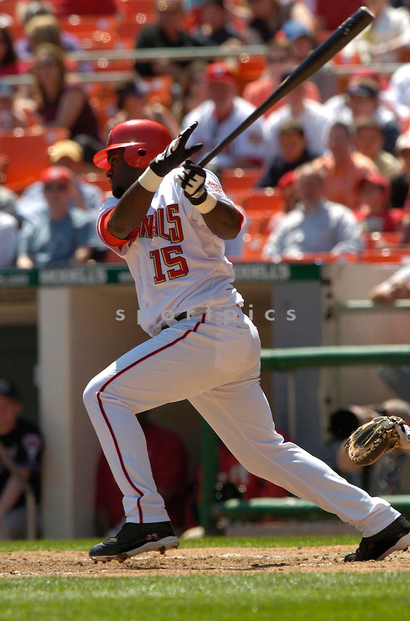 Cristian Guzman in action during the Washington Nationals v. Arizona Diamondbacks game on April 17, 2005.....Nationals won 7-3.....David Durochik/ SportPics..