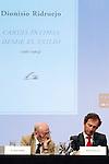 Writer Alvaro Pombo in the Essential Notebooks´s release of Santander Bank Fundation at Instiuto de Cervantes.Madrid 26 june 2012.(ALTERPHOTOS/ARNEDO)