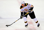 22 November 2008: Boston Bruins' defenseman Aaron Ward in action during the second period against the Montreal Canadiens at the Bell Centre in Montreal, Quebec, Canada.  After a 2-2 regulation tie and a non-scoring 5-minute overtime period, the Boston Bruins scored the lone shootout goal thus defeating the Canadiens 3-2. The Canadiens, celebrating their 100th season, honored former Montreal goaltender Patrick Roy, and retired his jersey (Number 33) during pre-game ceremonies. ***** Editorial Use Only *****..Mandatory Photo Credit: Ed Wolfstein Photo *** Editorial Sales through Icon Sports Media *** www.iconsportsmedia.com