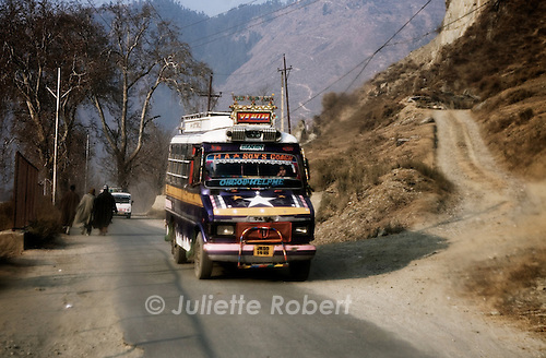 Around the town of Baramula, in Kashmir.
