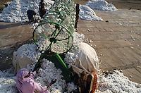 INDIA, Madhya Pradesh, Khargoan, Maikaal organic cotton project, ginning factory / INDIEN, Khargoan, Baumwolle Entkernungsfabrik, Verarbeitung von Biobaumwolle aus dem Maikaal Projekt