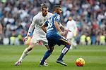 Real Madrid´s Gareth Bale and Getafe´s Wanderson during La Liga match at Santiago Bernabeu stadium in Madrid, Spain. December 05, 2015. (ALTERPHOTOS/Victor Blanco)