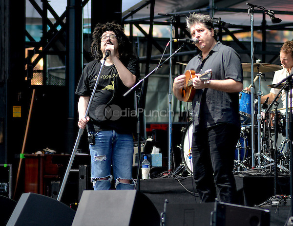 MIAMI GARDENS, FL - FEBRUARY 11: Adam Duritz, David Immerglück and Jim Bogios of Counting Crows preforms during the Dolphins Cancer Challenge VII (DCC) Concert Celebration at Hard Rock Stadium on February 11, 2017 in Miami Gardens, Florida.  Credit: MPI10 / MediaPunch
