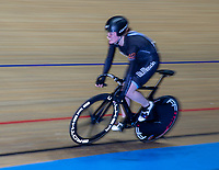 26th January 2020; National Cycling Centre, Manchester, Lancashire, England; HSBC British Cycling Track Championships; Female team sprint round two heat 4 Rhian Edmunds  (picture with sync slower shutter speed and panning)