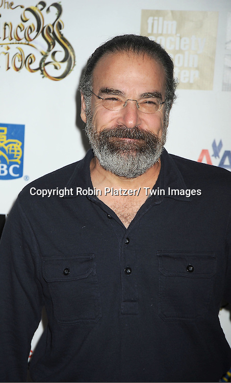"Mandy Patinkin arrives at ""The Princess Bride""  screening presented by the Film Society of Lincoln Center and the Academy of Motion Pictures Arts and Sciences at the 2012 New York Film Festival on October 2, 2012 at Alice Tully Hall in  New York City. Rob Reiner was the director and the cast included Billy Crystal, Cary Elwes, Caril Kane, Mandy Patinkin, Chris Sarandon and Rboin Wright."